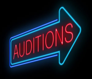 Neon Auditions Sign
