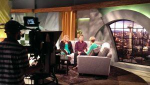 Studio News set at NBC Seattle