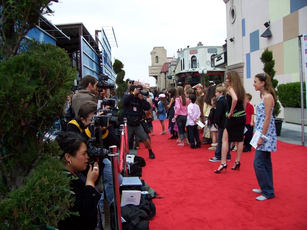 CARE red carpet with photogs
