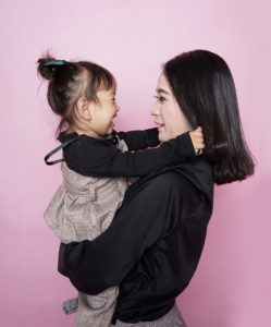 Asian Mom with baby girl