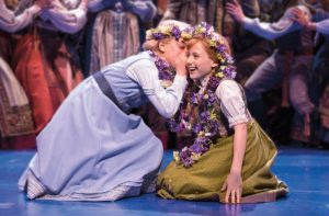 Two girls on stage from Frozen