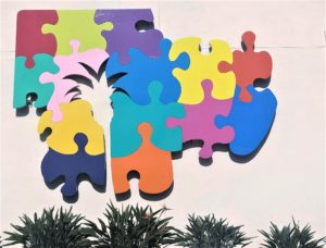 Mural of puzzled pieces in Rancho Cucamonga