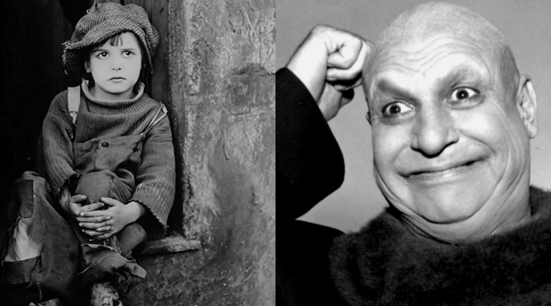 Jackie Coogan as a child and an adult