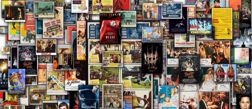 Collage of movie posters filmed in Louisiana