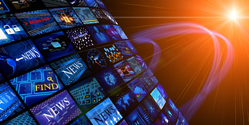 Small logos of news organizations