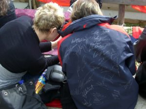 autograph collectors with signed jacket