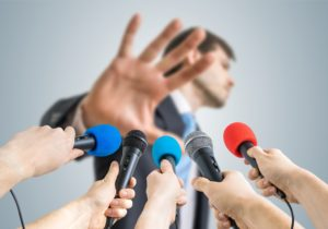 politician refusing interviews
