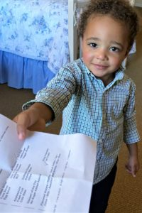 Kaiden baby learning lines