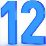 graphic of the number 12