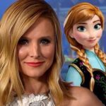 Kirsten Bell with her Frozen character of Anna