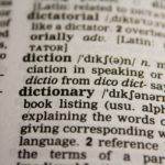 dictionary book text