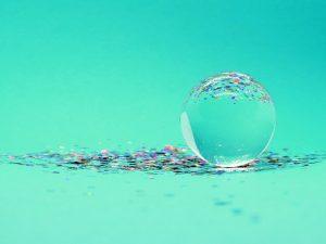 crystal ball wit confetti